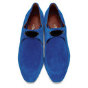 3.1 Phillip Lim Blue Suede Square Lace-Up Loafers