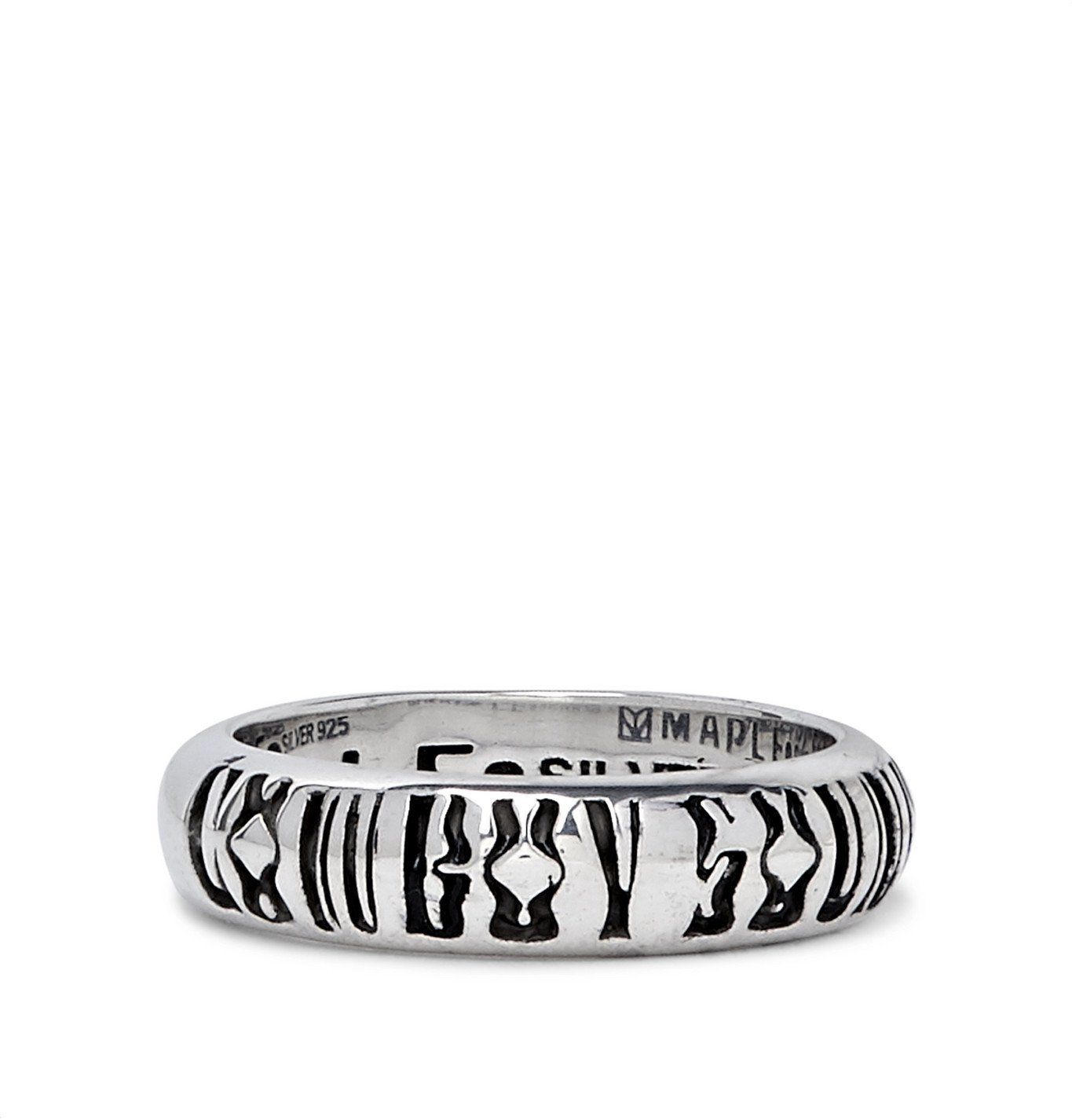 Photo: MAPLE - Cowboy Soundboy Engraved Sterling Silver Ring - Silver