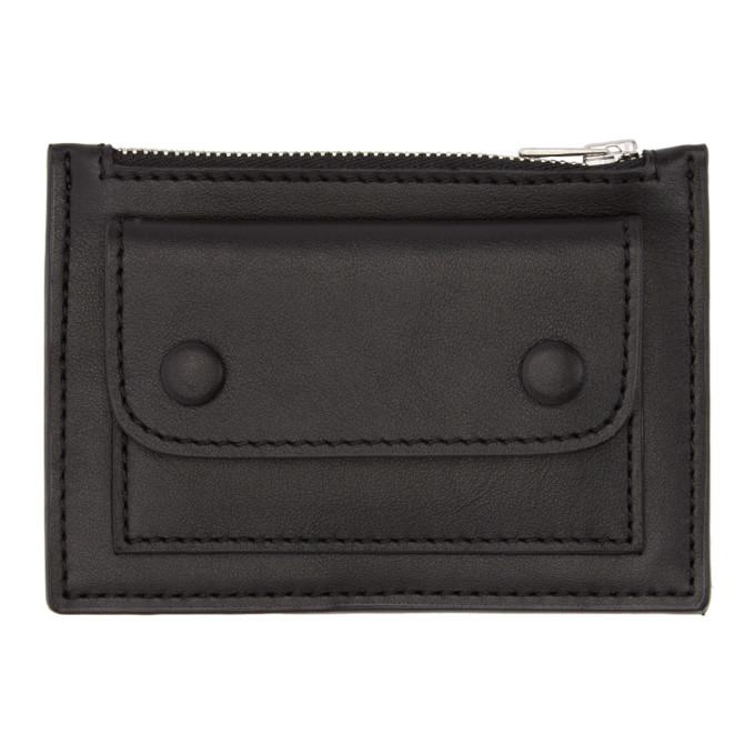 ami alexandre mattiussi black zip card holder - Zip Card Holder