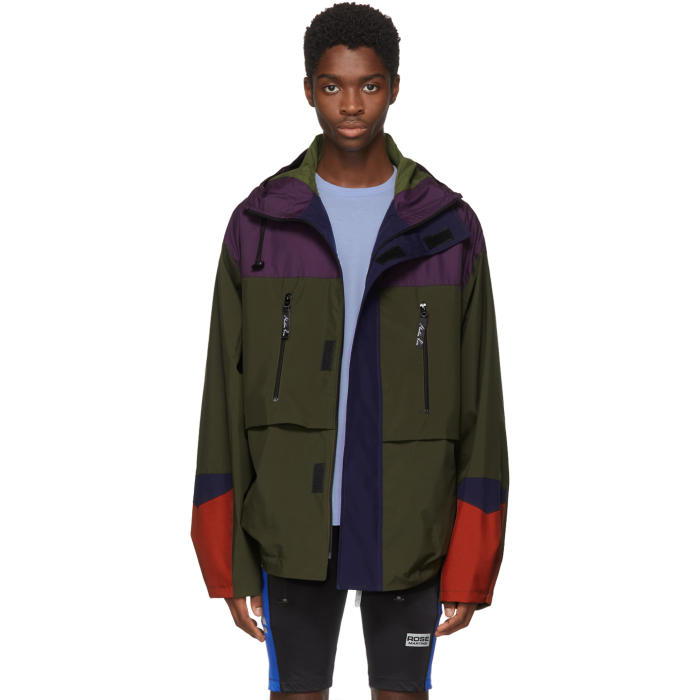 Photo: Martine Rose Green and Purple Colorblock Raincoat
