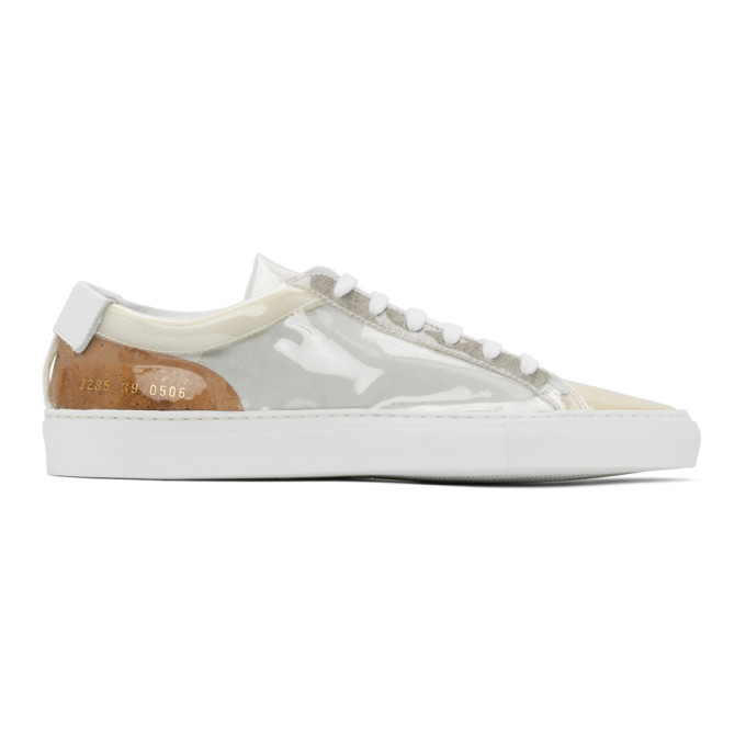 Photo: Common Projects White Clear Achilles Low Sneakers