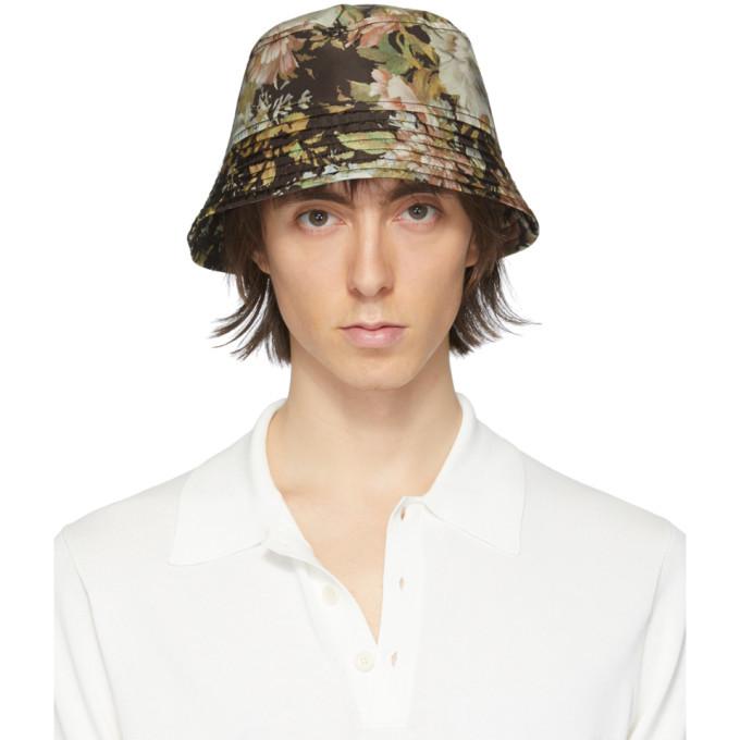 Photo: Dries Van Noten Multicolor Floral Gillian Bucket Hat