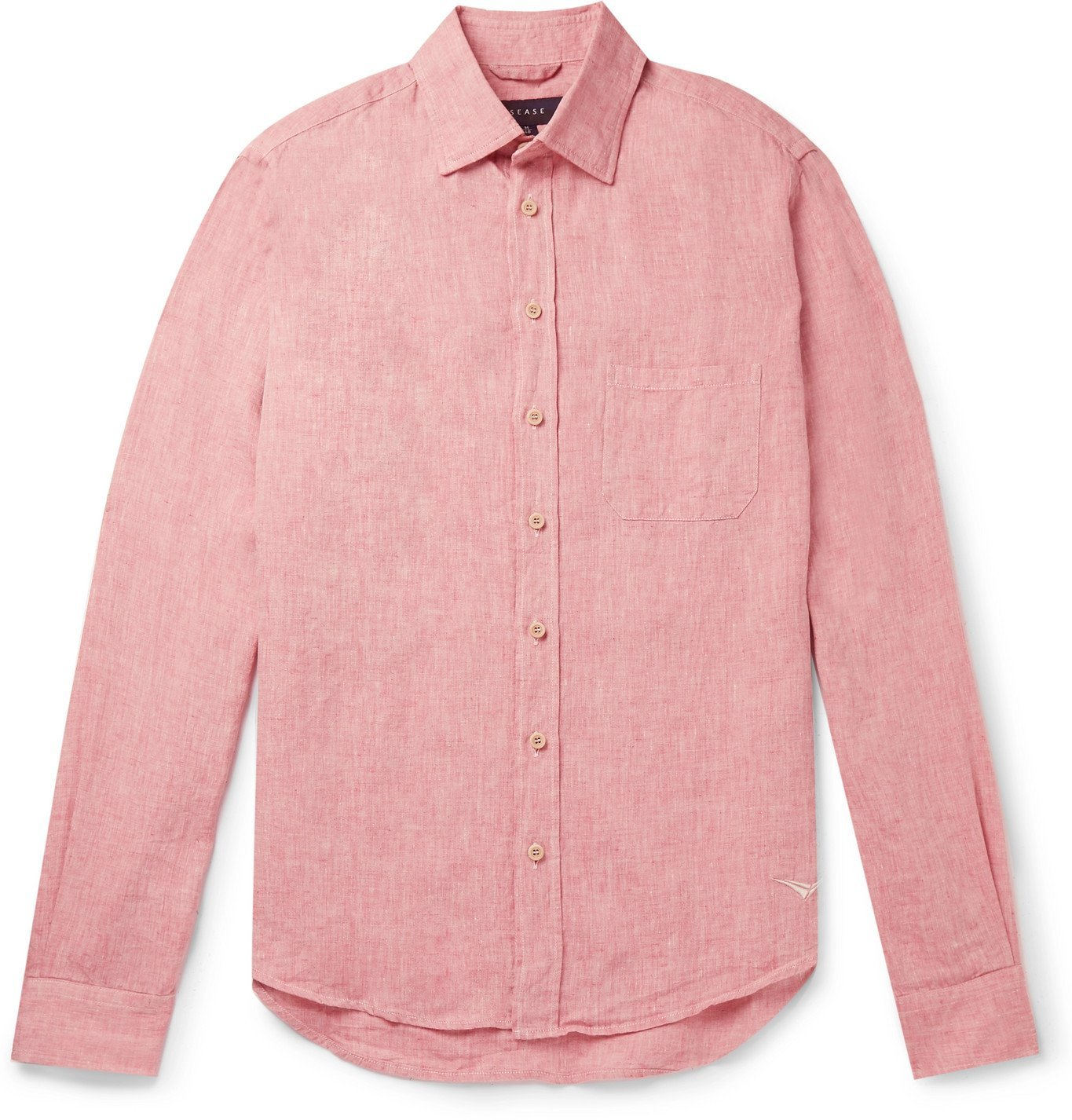 Photo: Sease - Slim-Fit Linen Shirt - Red