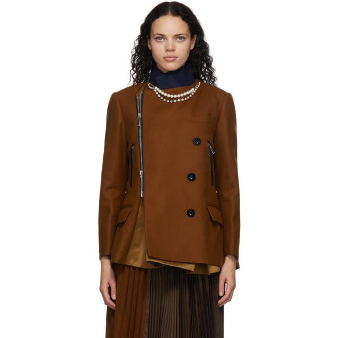 Sacai Brown Necklace Jacket