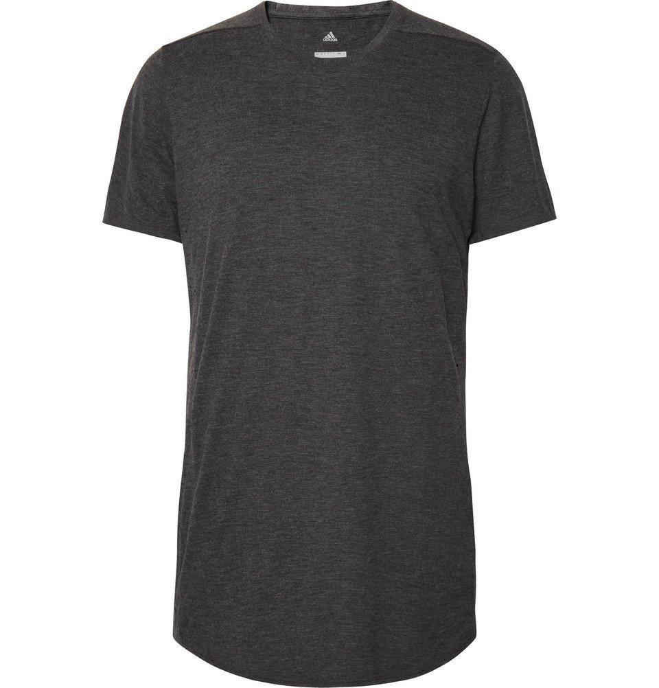 Adidas Sport - Supernova Pure Mélange Climalite T-Shirt - Dark gray