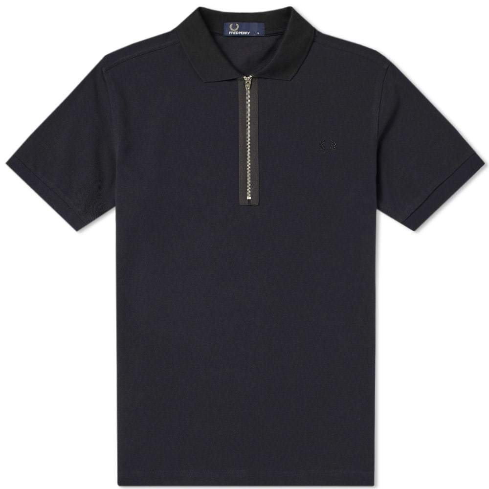 Photo: Fred Perry Zip Neck Pique Polo