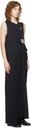 Raf Simons Black Distressed 'Muted Chaos' Long Dress