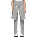 Sacai Grey Wool Panel Trousers