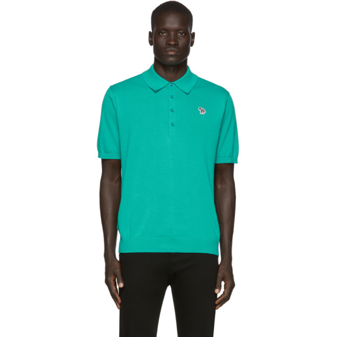 Photo: PS by Paul Smith Green Knit Zebra Polo