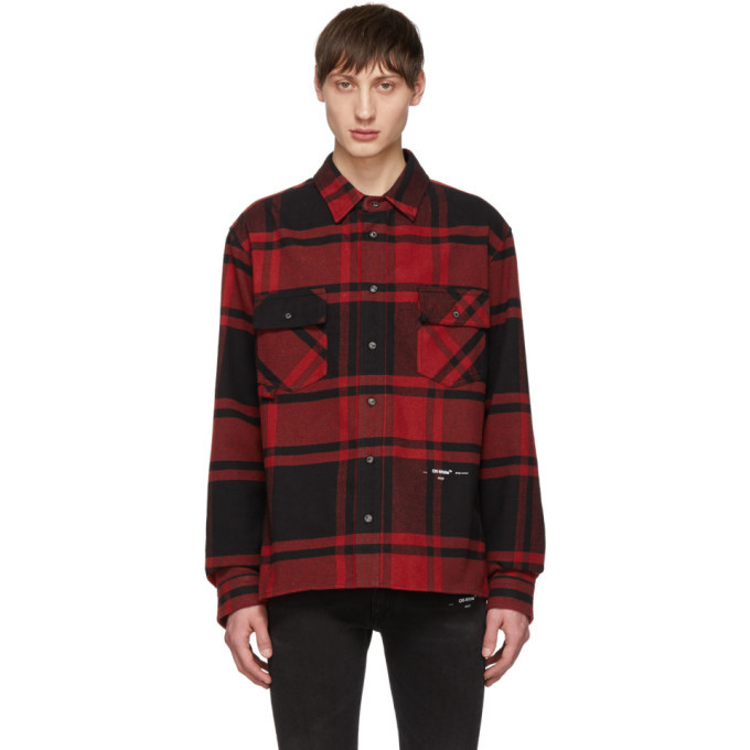 Photo: Off-White Red and Black Luxury Checked Shirt