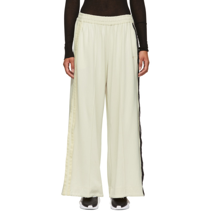 Photo: Y-3 White 3-Stripe Selvedge Matt Lounge Pants