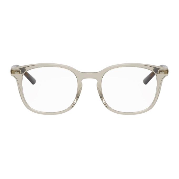 Photo: Gucci Grey and Tortoiseshell Stripe Glasses
