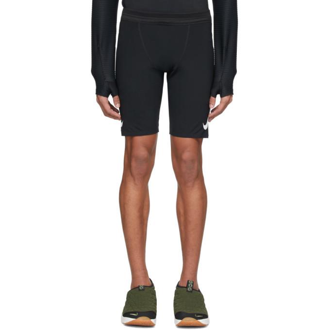 Photo: Nike Black Aeroswift Half Length Running Shorts