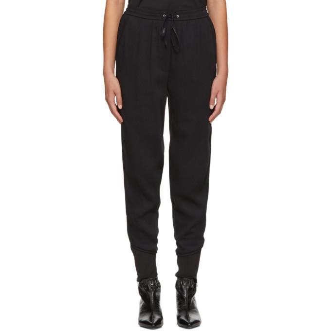 3.1 Phillip Lim Black Crepe Jogger Trousers