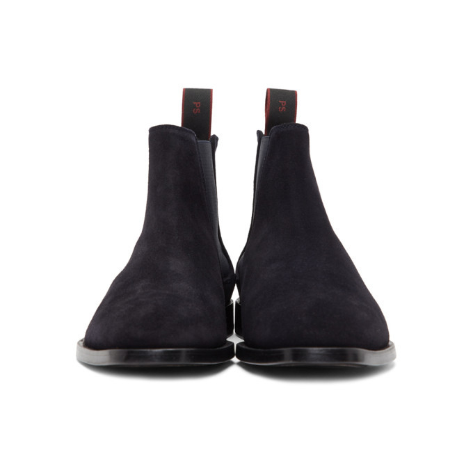 PS by Paul Smith Navy Suede Gerald Chelsea Boots