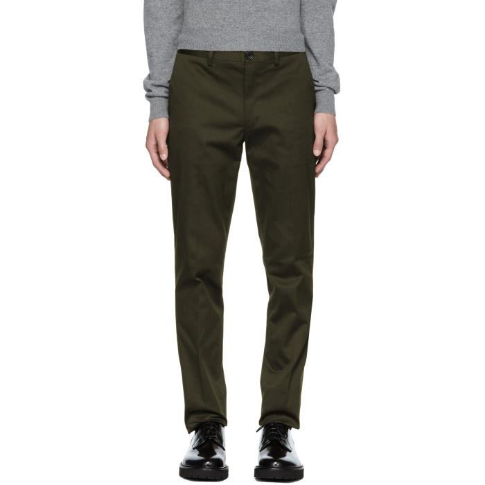 Photo: PS by Paul Smith Green Slim Chinos