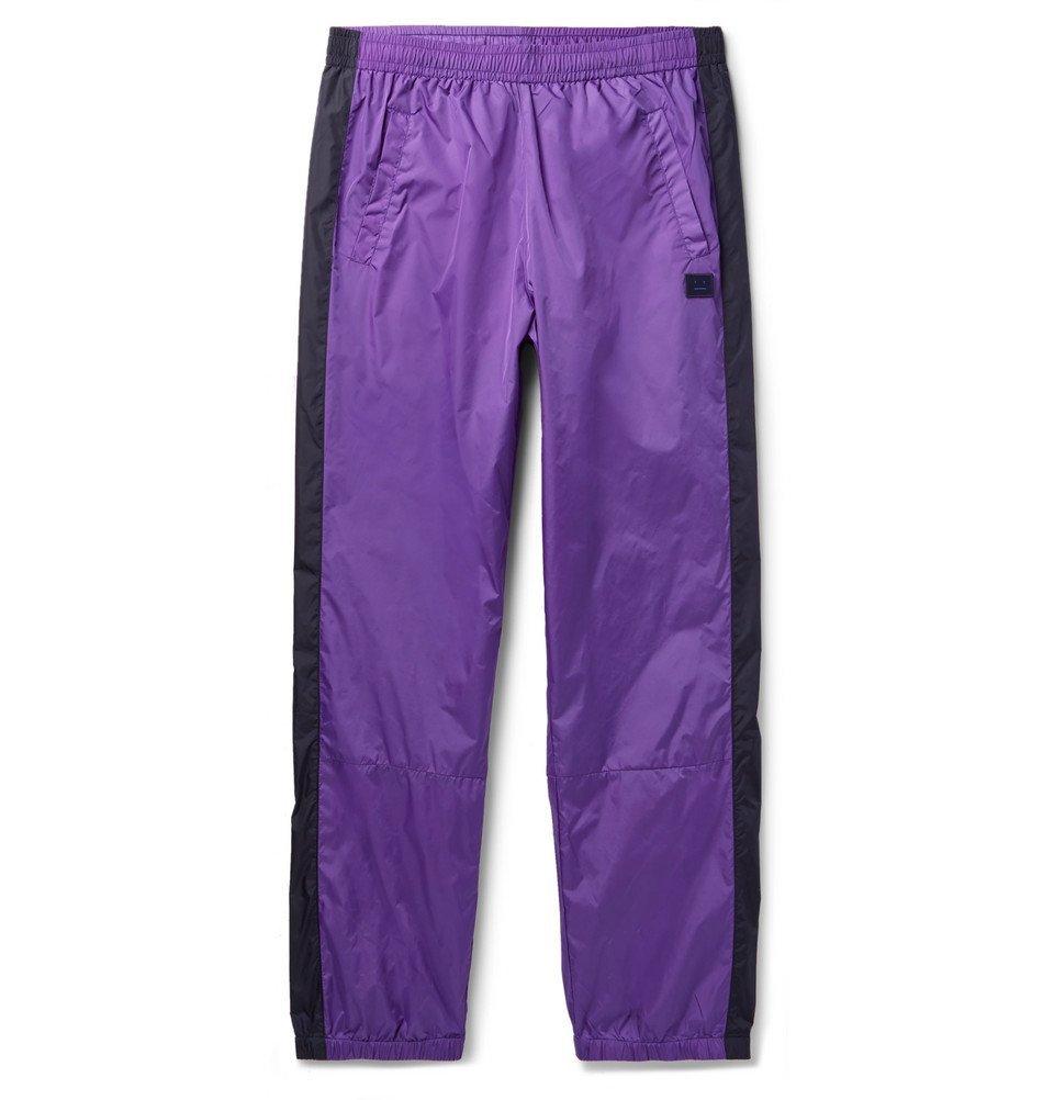 Photo: Acne Studios - Phoenix Tapered Striped Nylon Sweatpants - Men - Purple
