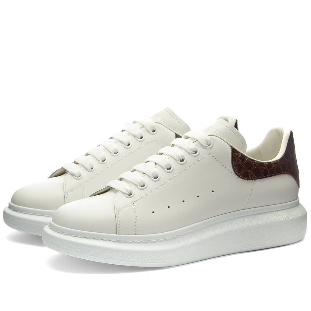 Photo: Alexander McQueen Croc Heel Tab Wedge Sole Sneaker