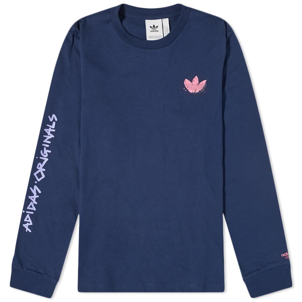 Photo: Adidas Graphic Trefoil Logo Long Sleeve Tee