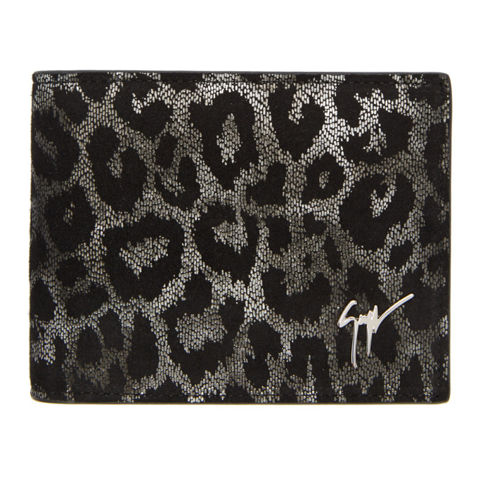 Photo: Giuseppe Zanotti Black and Silver Hangover Wallet