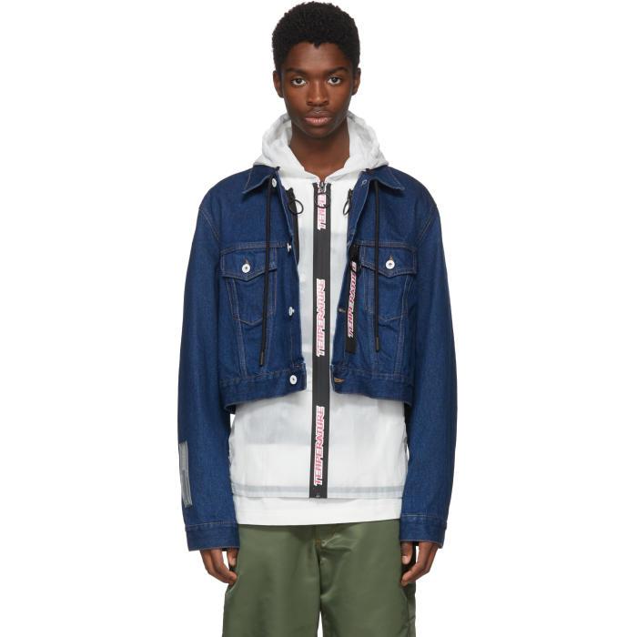 Photo: Off-White Blue Layered Hooded Denim Jacket