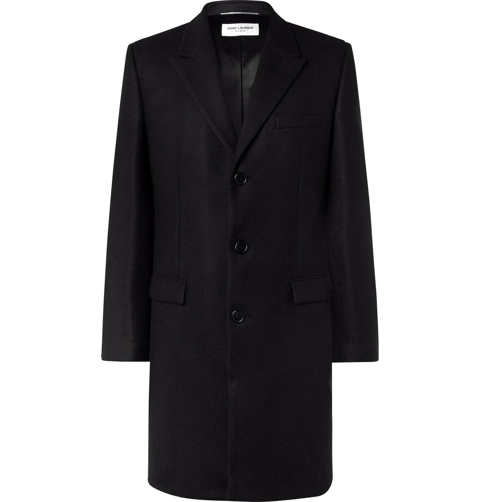 Photo: SAINT LAURENT - Wool Coat - Black