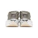 Raf Simons Grey and Silver adidas Originals Edition Ozweego Sneakers
