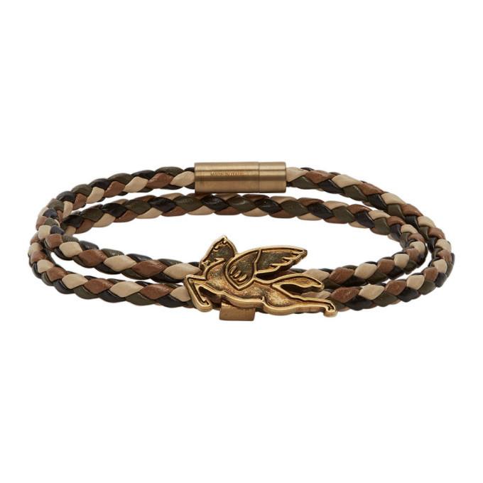 Photo: Etro Brown Pegasus Bracelet