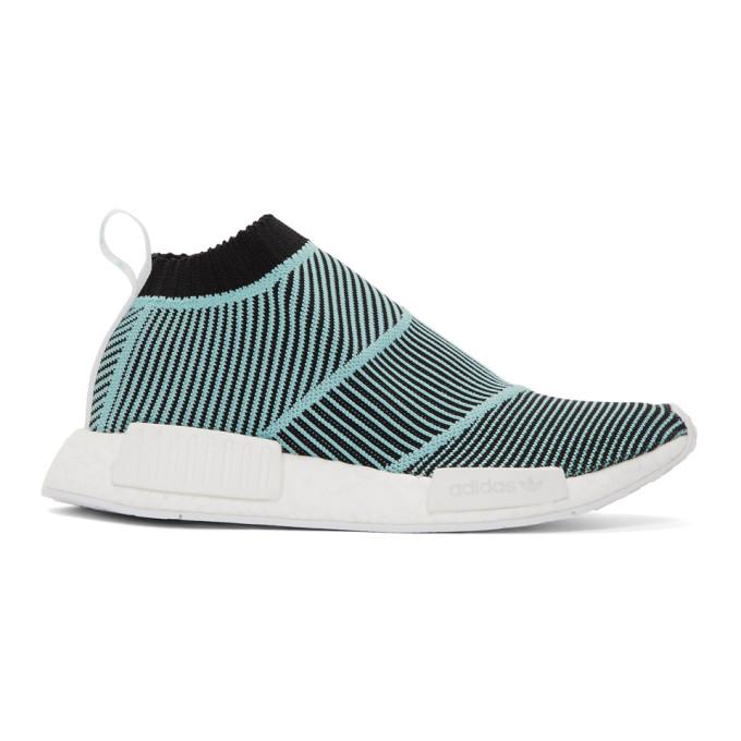 adidas Originals Black and Blue NMD CS1 Parley PK Sneakers