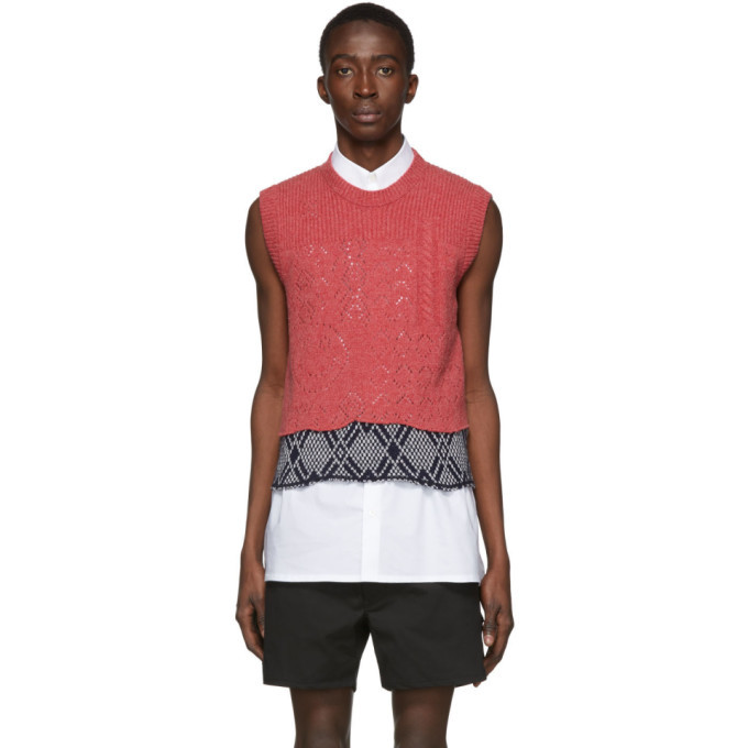 Photo: Raf Simons Pink Graphic Merino Wool Vest
