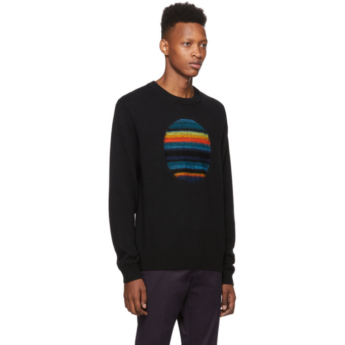 PS by Paul Smith Black Intarsia Horizon Sweater