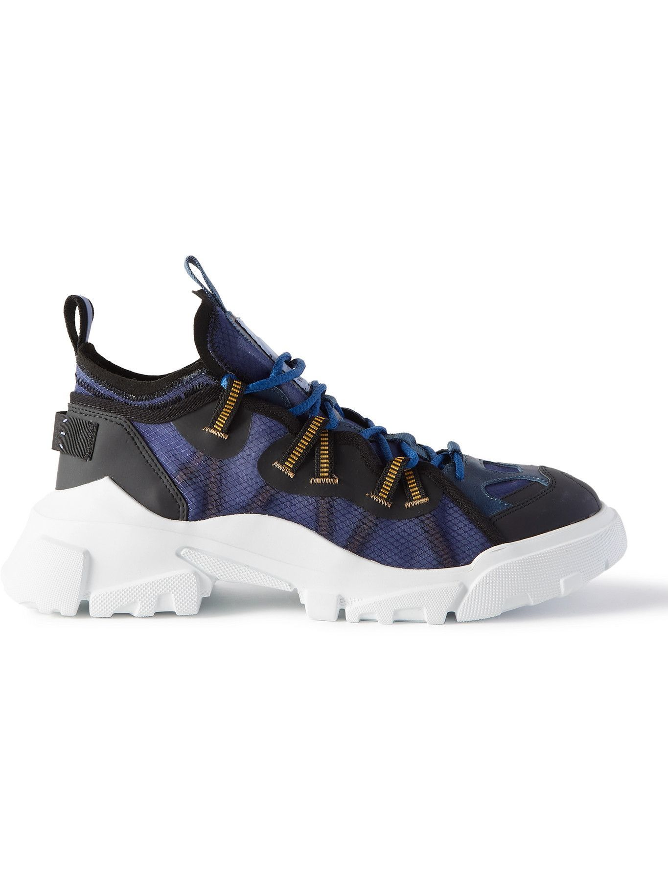Photo: MCQ - Breathe BR-7 Orbyt Descender Leather-Trimmed Ripstop Sneakers - Black