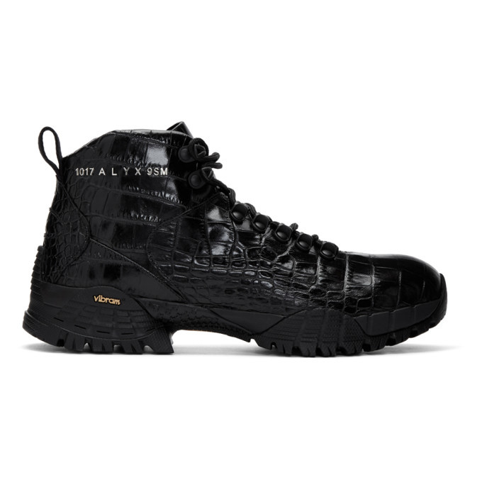 Photo: 1017 ALYX 9SM Black Croc Hiking Boots