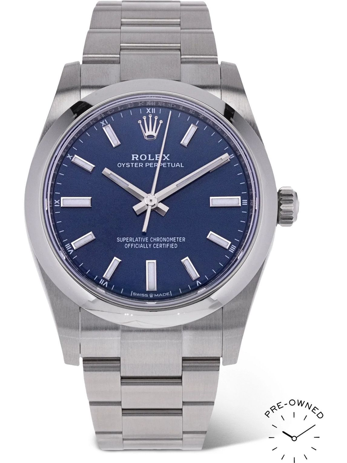 Photo: ROLEX - Pre-Owned 2009 Oyster Perpetual Automatic 34mm Oystersteel Watch, Ref. No. 124200
