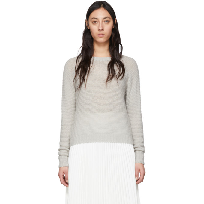 Max Mara Grey Cashmere and Silk Ciad Sweater
