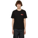 EDEN power corp Black and Red Recycled Cotton Logo T-Shirt