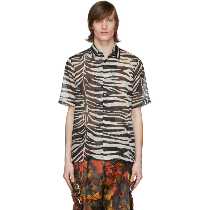 Photo: Dries Van Noten Black and White Zebra Shirt