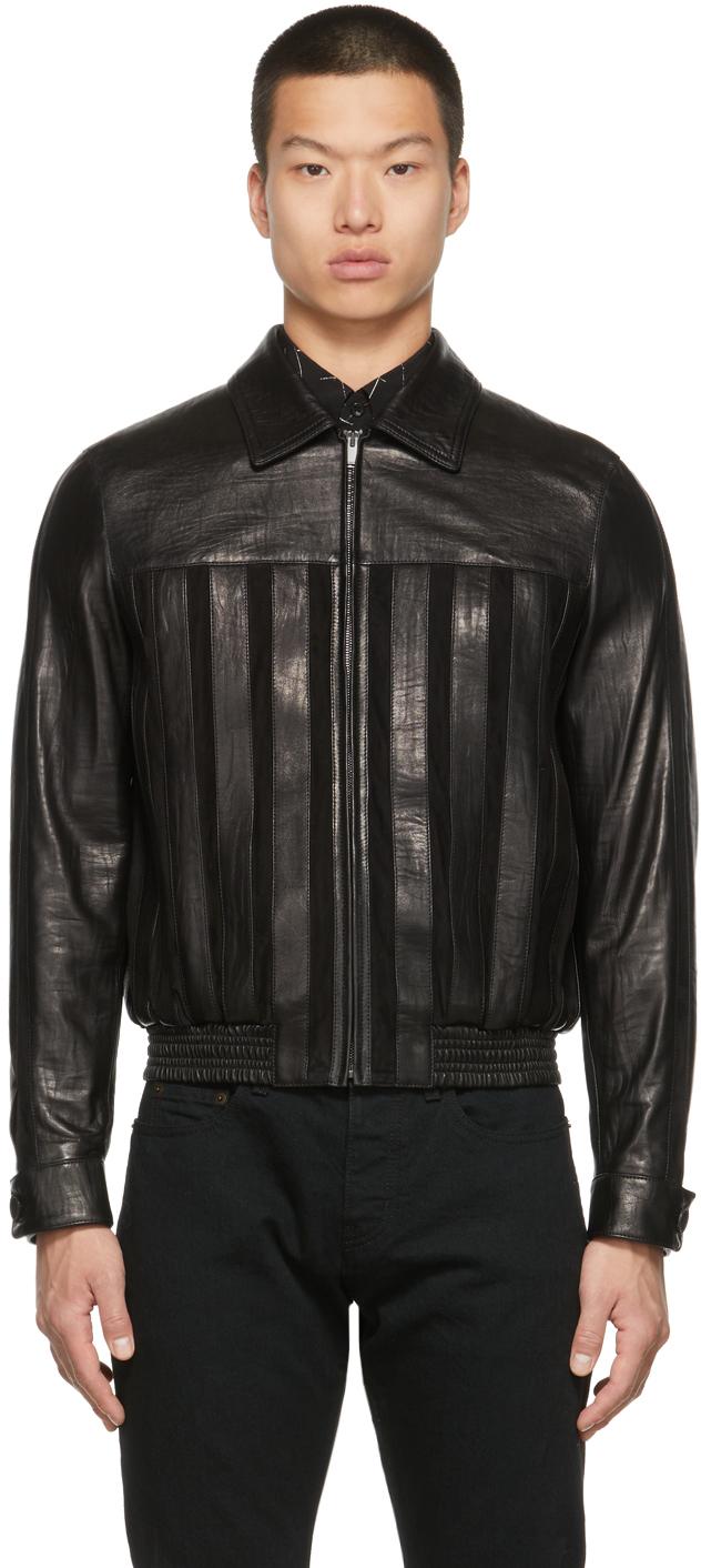 Photo: Saint Laurent Suede Striped Jacket