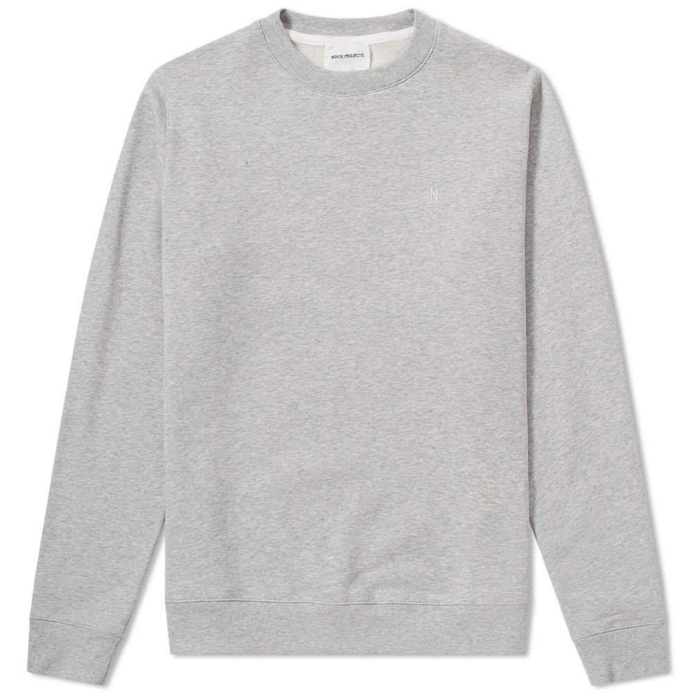 Photo: Norse Projects Vagn Classic Patch Logo Crew Sweat Grey
