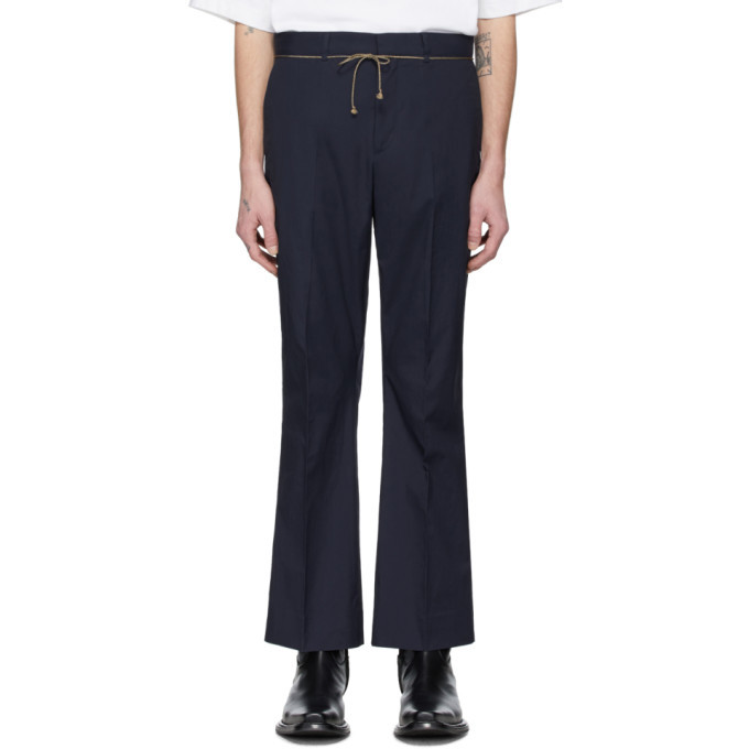 Photo: Acne Studios Blue Drawcord Bootcut Trousers