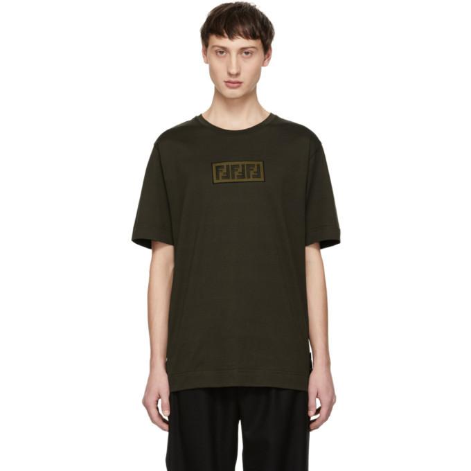 Photo: Fendi Brown Forever Fendi Patch T-Shirt