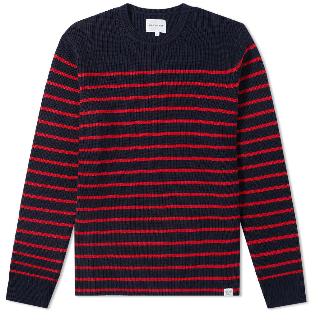 Photo: Norse Projects Verner Normandy Cotton Stripe Crew Knit