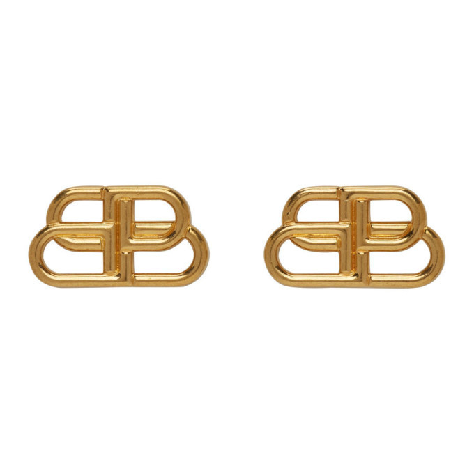 Photo: Balenciaga Gold Small BB Stud Earrings