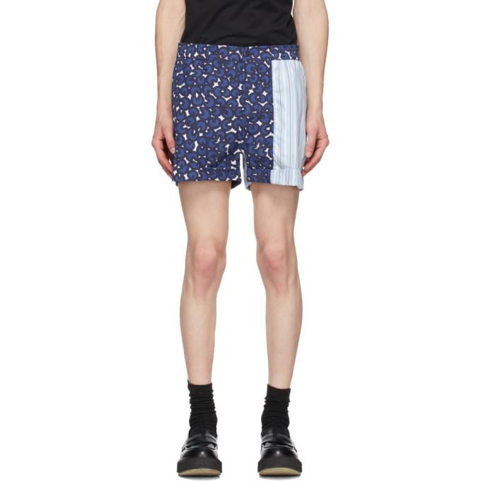 Photo: Neil Barrett Blue Multi-Print Shorts