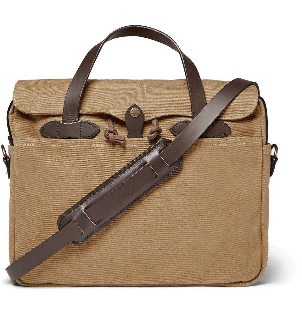 Filson - Original Leather-Trimmed Twill Briefcase - Men - Tan
