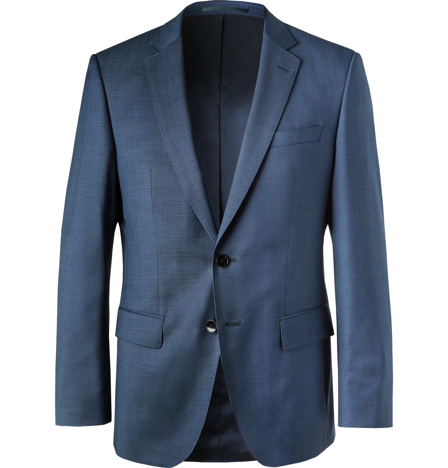 Photo: Hugo Boss - Blue Virgin Wool Suit Jacket - Blue