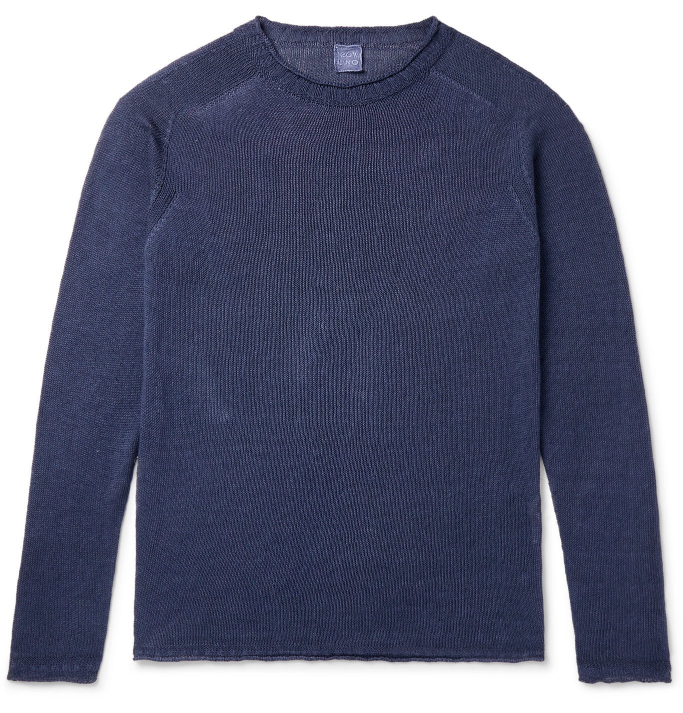 Photo: 120% - Linen, Cotton and Lyocell-Blend Sweater - Blue