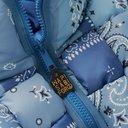 KAPITAL - Oversized Reversible Woven Padded Printed Shell Gilet - Blue