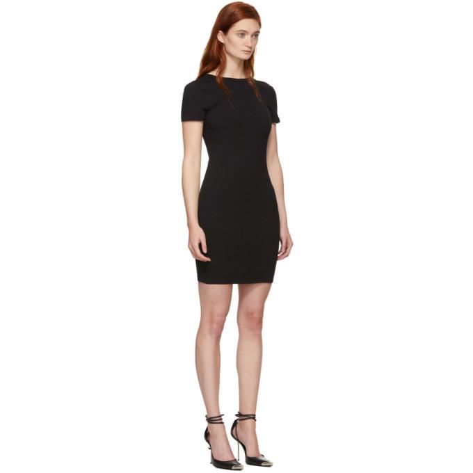 alexanderwang.t Black Compact Jersey Snaps Dress
