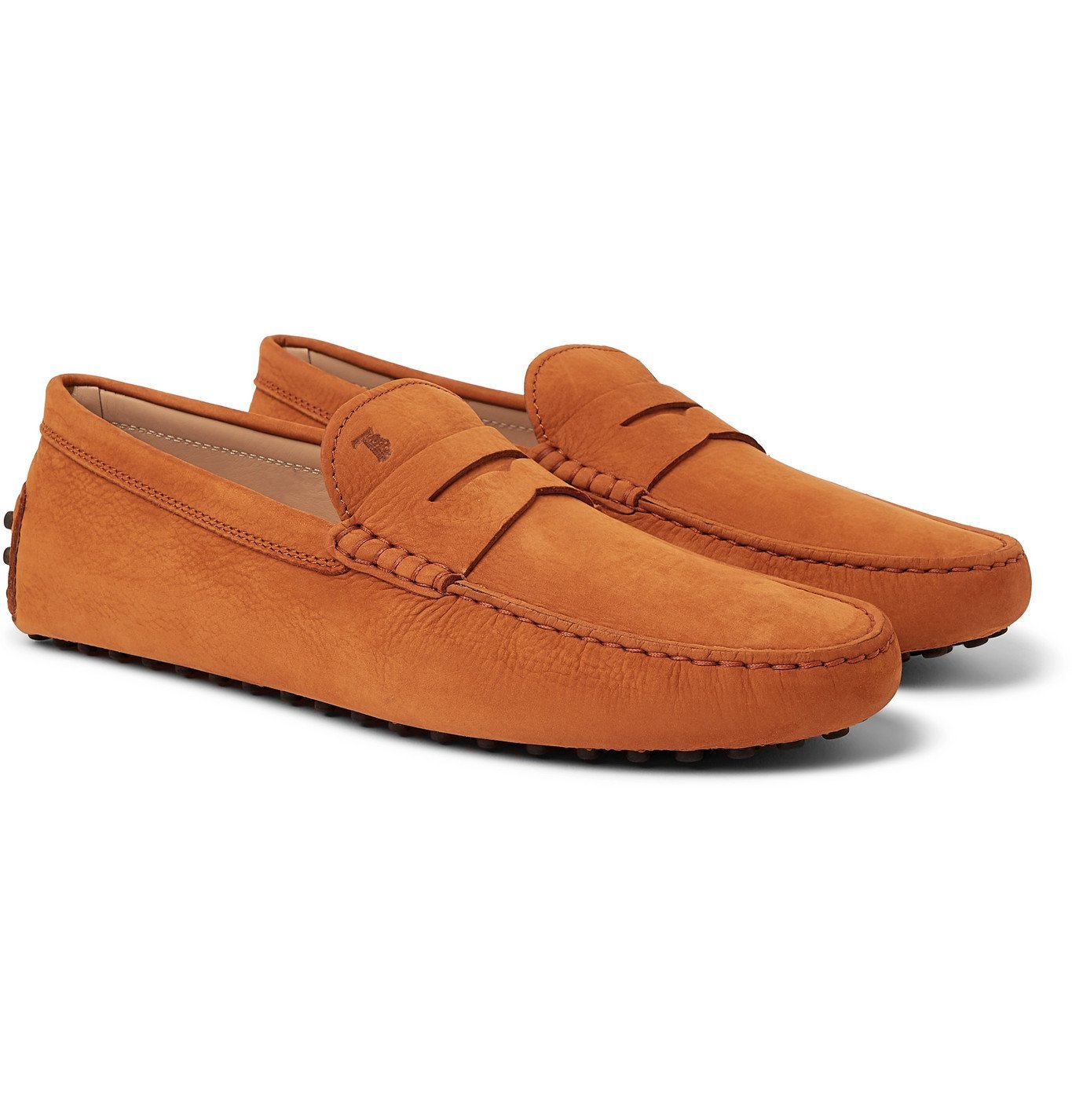 Photo: TOD'S - Gommino Nubuck Driving Shoes - Orange